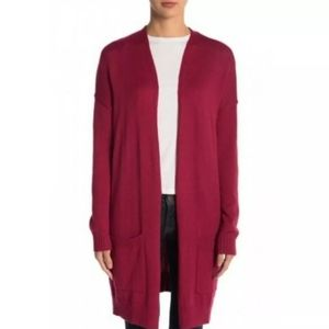 🥰Abound red long knit cardigan two front pocke